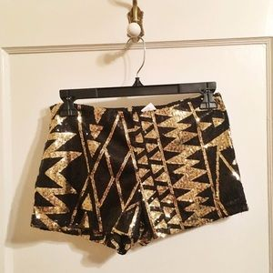 ⚡️Tribal Sequin Shorts